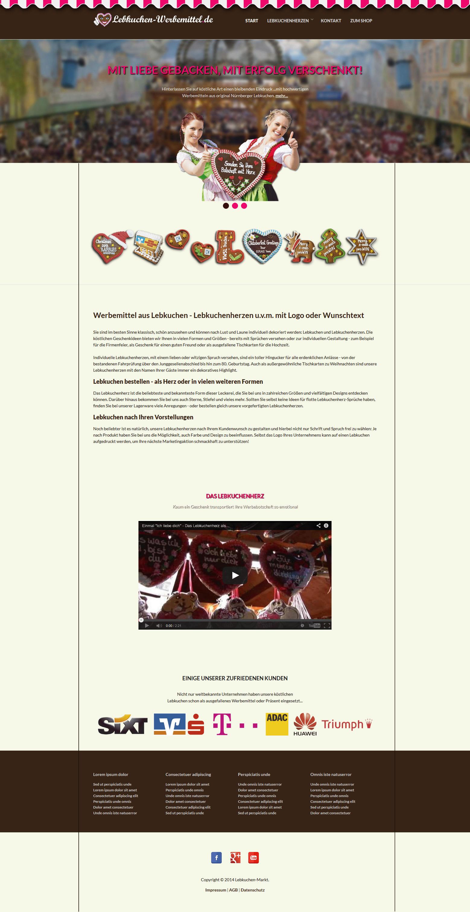 Lebkuchen-Werbemittel